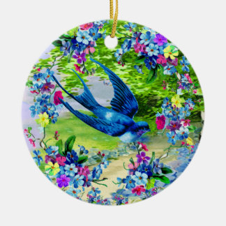 Le Jardin Marie Antoinette Double-Sided Ceramic Round Christmas Ornament