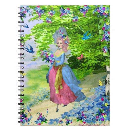 Le Jardin Marie Antoinette Spiral Notebook