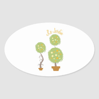 Le Jardin Oval Sticker