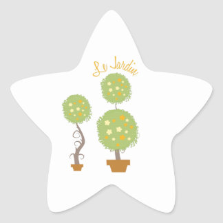 Le Jardin Star Sticker