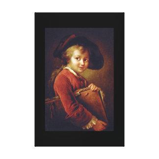 Le Jeune Eleve', Francois_Portraits Canvas Print