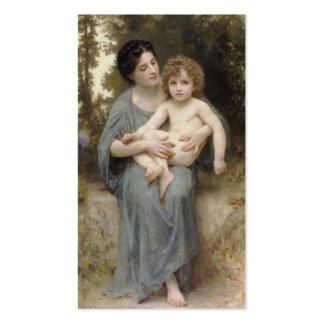 Le Jeune Frère (Little brother) Bouguereau Double-Sided Standard Business Cards (Pack Of 100)