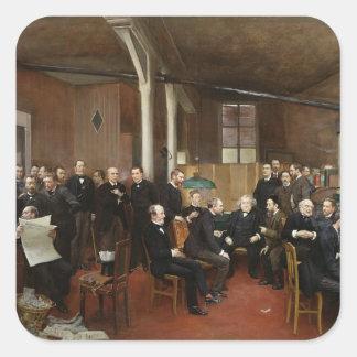 Le Journal des Debats, 1889 Pegatina Cuadrada