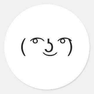 Le Lenny Face Classic Round Sticker