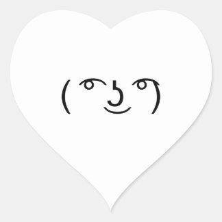 Le Lenny Face Heart Sticker