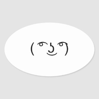 Le Lenny Face Oval Sticker