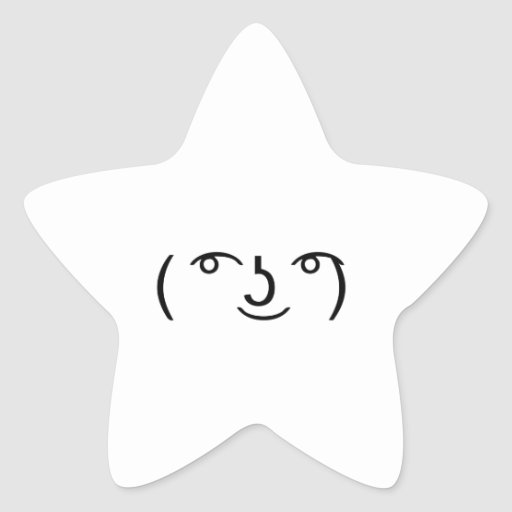 Le Lenny Face Pegatina En Forma De Estrella