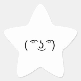 Le Lenny Face Star Sticker