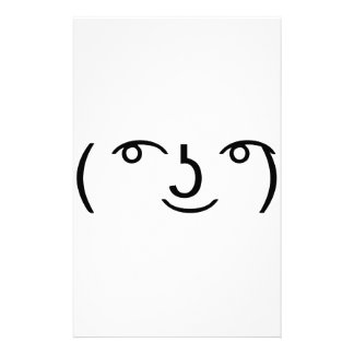 Le Lenny Face Stationery Paper