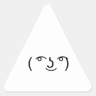 Le Lenny Face Triangle Sticker