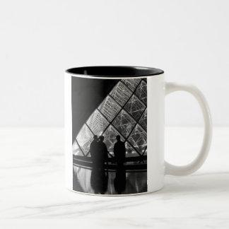 Le Louvre á nuit,  Paris Two-Tone Coffee Mug