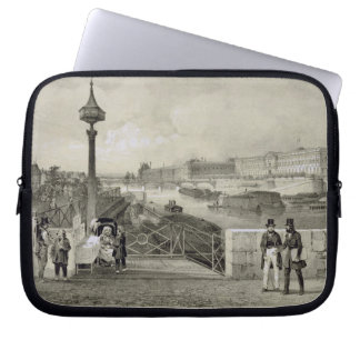 Le Louvre, engraved by Auguste Bry (engraving) Computer Sleeve