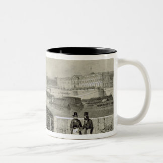 Le Louvre, engraved by Auguste Bry (engraving) Two-Tone Coffee Mug