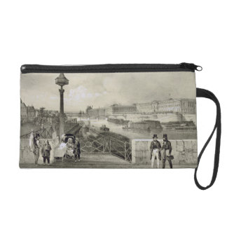 Le Louvre, engraved by Auguste Bry (engraving) Wristlet Purse