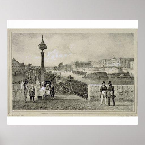 Le Louvre, grabado por Auguste Bry (grabado) Poster