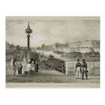 Le Louvre, grabado por Auguste Bry (grabado) Tarjetas Postales