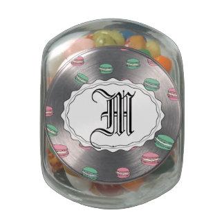 Le Macaron Glass Candy Jar