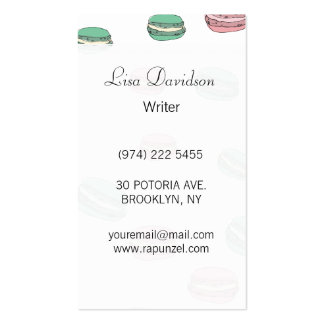 Le Macaron Double-Sided Standard Business Cards (Pack Of 100)