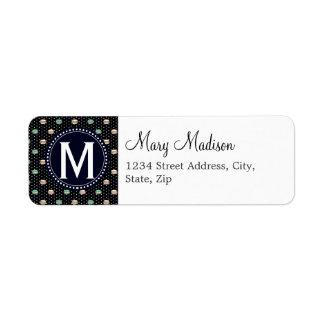 Le Macaron polkadot Return Address Label