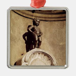 Le Mannequin Pis, 1619 Adorno Cuadrado Plateado