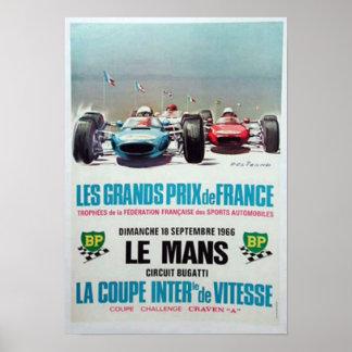 Le Mans 1966 que compite con el anuncio Poster