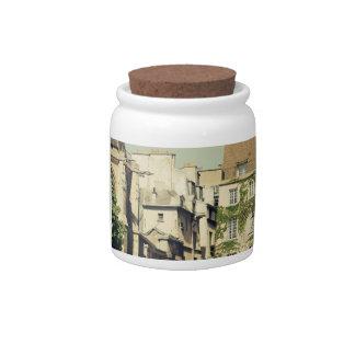 Le Marais in Paris, France, Idyllic Architecture Candy Jar