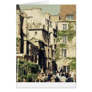 Le Marais in Paris, France, Idyllic Architecture Card