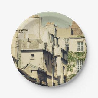 Le Marais in Paris, France, Idyllic Architecture Paper Plate