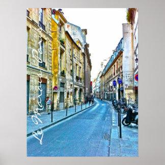 Le Marais photo illustration. Poster