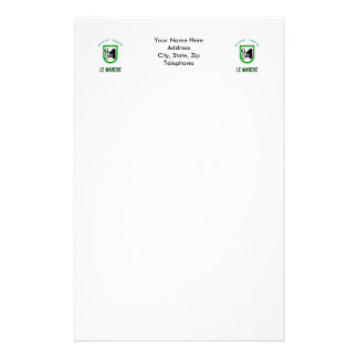 Le Marche flag with name Stationery Paper