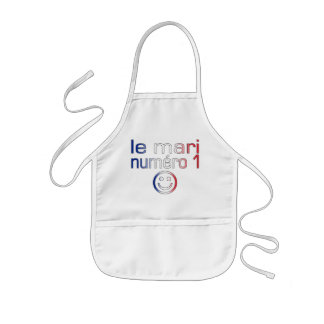Le Mari Numéro 1 - Number 1 Husband in French Kids' Apron