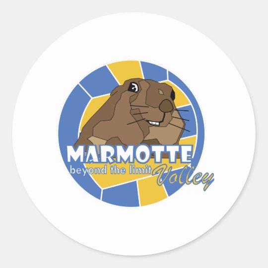 le marmotte di ovindoli classic round sticker