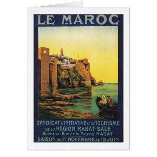 Le Maroc Tarjeta De Felicitación