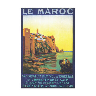 Le Maroc Vintage Travel Poster Canvas Print