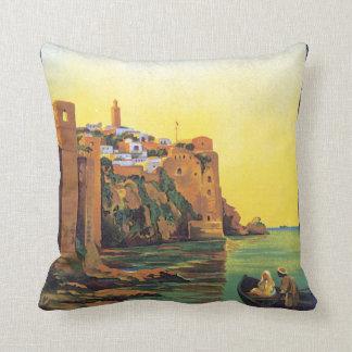 Le Maroc Vintage Travel Poster Throw Pillow
