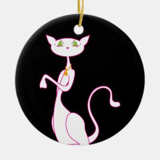 Le Meow Blanc Ornaments
