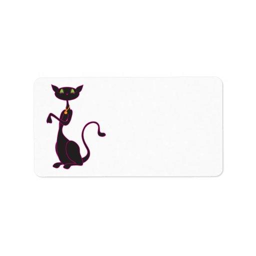 Le Meow Noir Address Labels