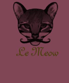 Le meow shirt