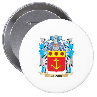 Le-Mer Coat of Arms - Family Crest Pinback Button