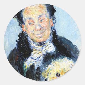Le Mere Paul  Claude Monet Classic Round Sticker