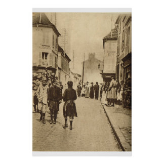 Le Miroir 1918, escena en Alsacia Póster