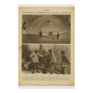 Le Miroir 1918, Inspecting the inside of a balloon Poster