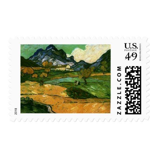 Le Mont Gaussier, Vincent van Gogh Postage