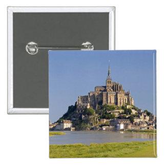 Le Mont Saint Michel in the region of Pinback Button