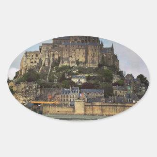 Le Mont-Saint-Michel Oval Sticker