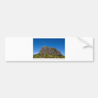 Le Morne Brabant Mauritius with blue sky Bumper Sticker
