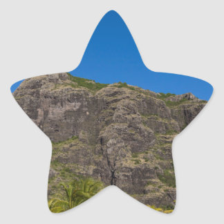 Le Morne Brabant Mauritius with blue sky Star Sticker
