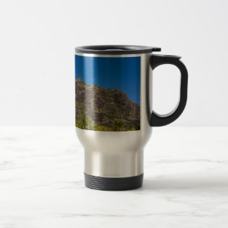 Le Morne Brabant Mauritius with blue sky Travel Mug
