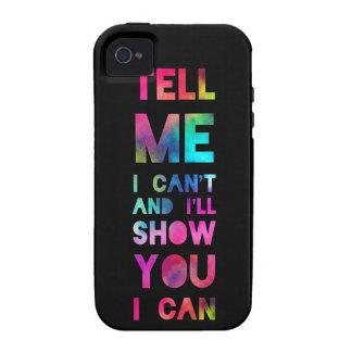 Le mostraré que puedo arco iris iPhone 4/4S funda