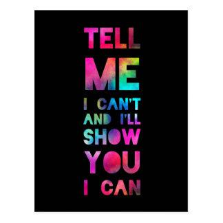 Le mostraré que puedo arco iris postal